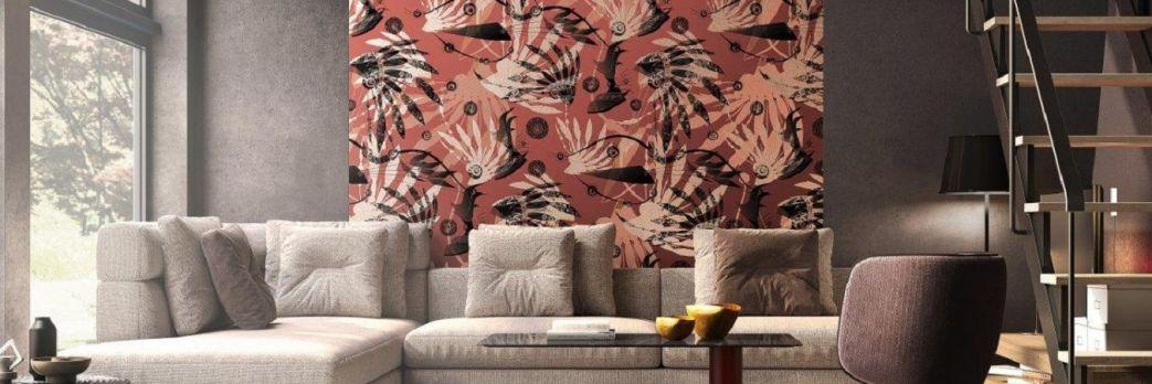 Ściana ubrana w dekor. Modne tapety