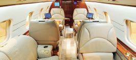 Bogate wnętrza samolotów