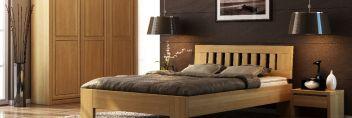 Drewniane wypsażenie sypialni