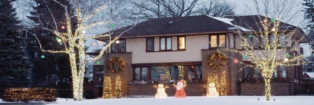 Świąteczna iluminacja domu i ogrodu