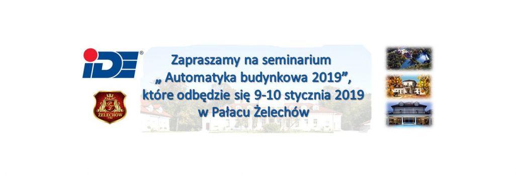 "Seminarium ""Automatyka budynkowa 2019"""