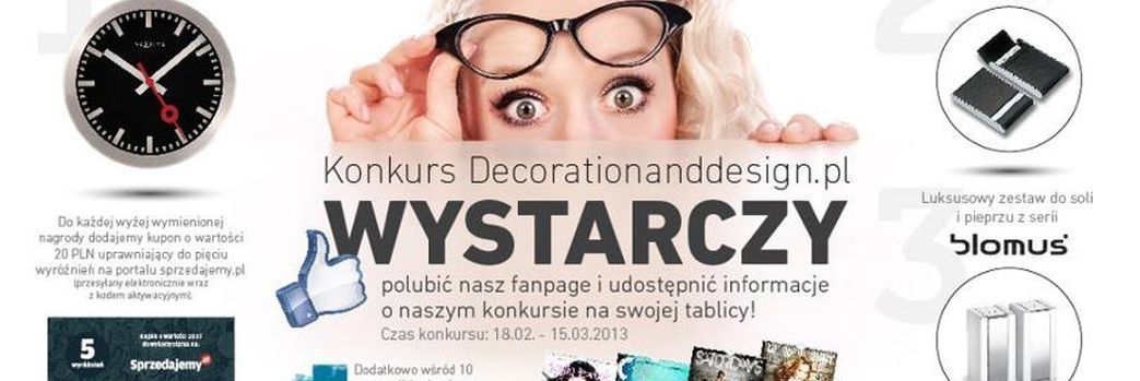 konkurs Decorationanddesign.pl