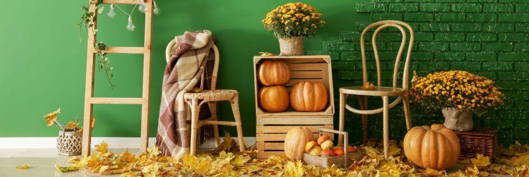 Jesienny wystrój we wnętrzu