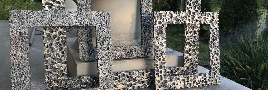 Architektoniczne panele ze spienionego aluminium