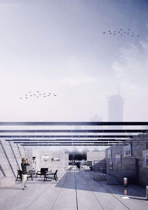 """projekt poddasza """"Dach w Wielkim Mieście"""""""