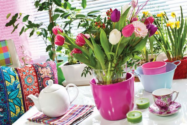 kwiaty cięte w wazonie