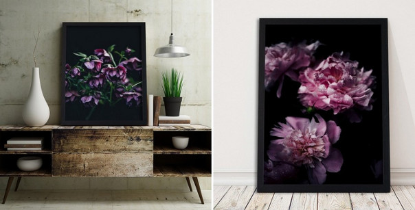 plakat dark flower