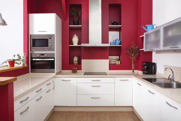 czerwona kuchnia na wymiar