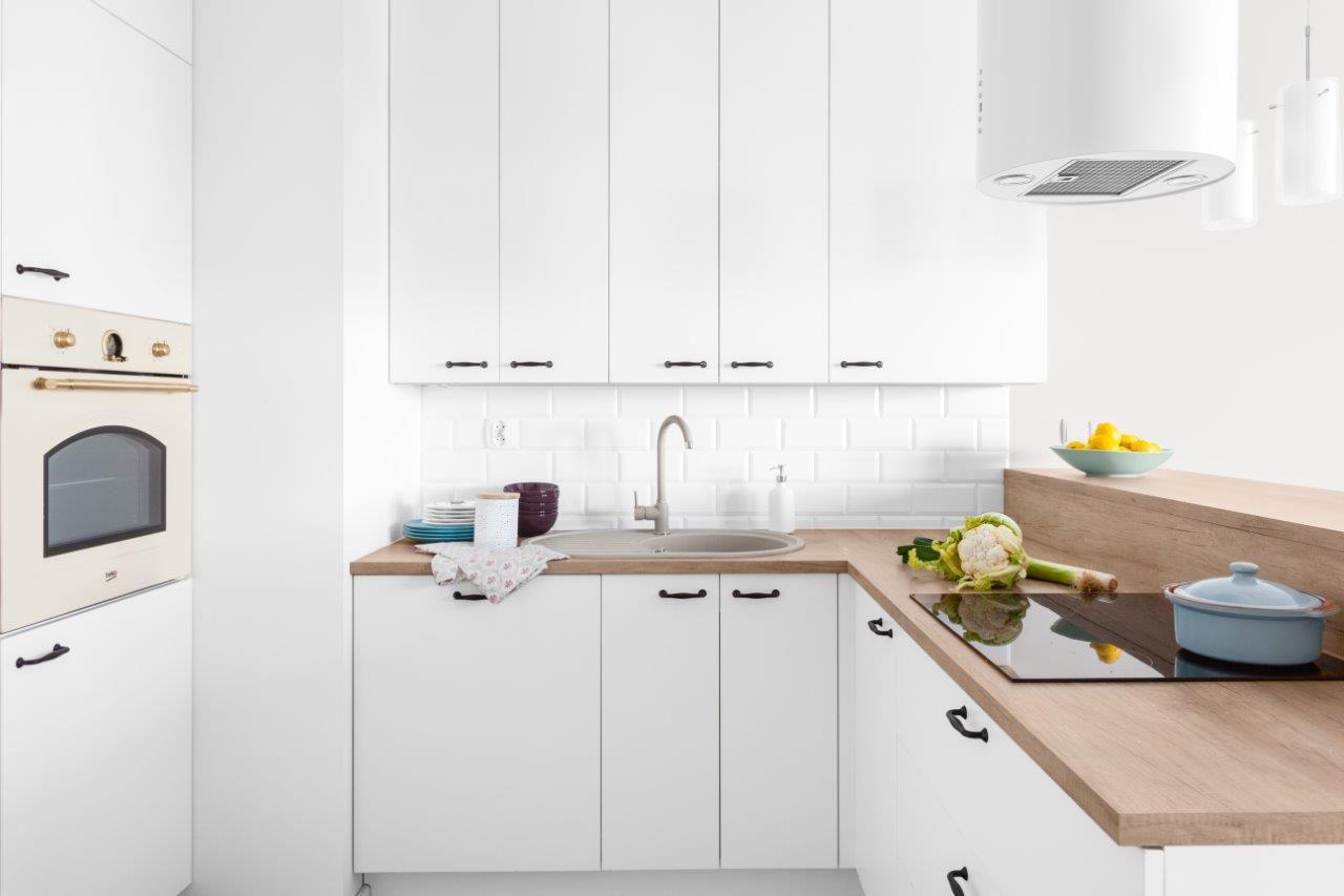 nowoczesna kuchnia biało-szara