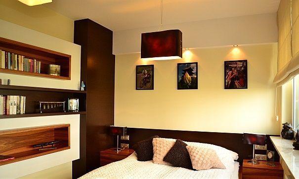 sypialnia w beżach i brązach