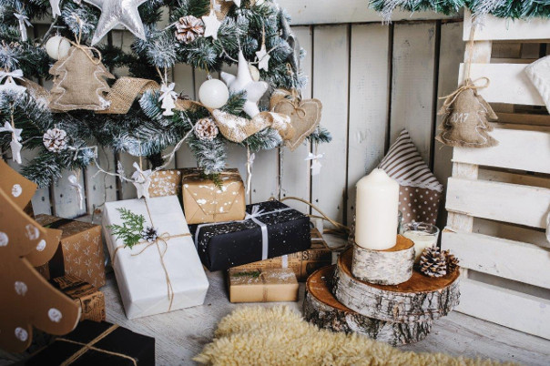 dekoracje świąteczne styl skandynawski