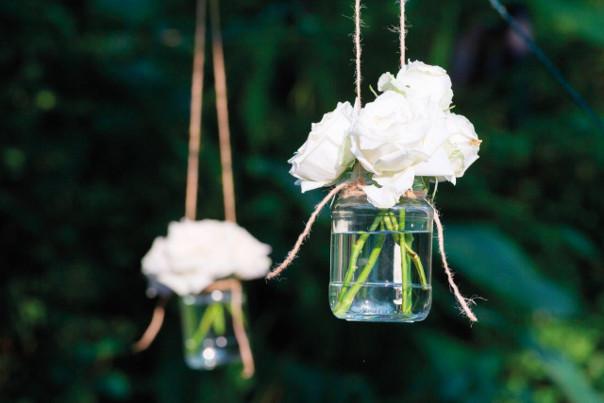 dekoracja ślubna kwiaty vintage