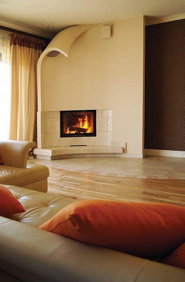 Ogie otoczony sztuk design komink w living room - Matelas dunlopillo trendy room 24 ...