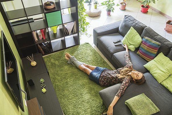 zielony dywan