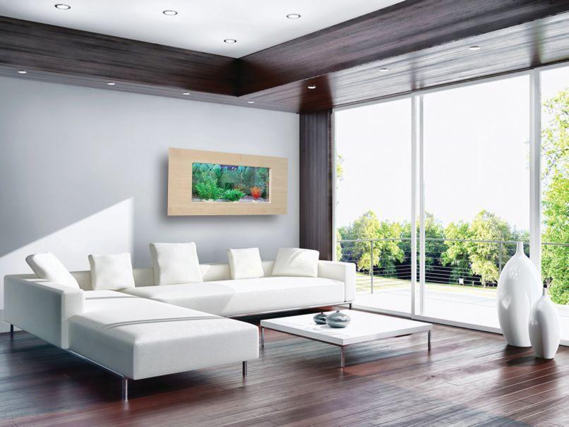 Jak wbudować akwarium w ścianę domu?. Zamiast obrazu - Living Room